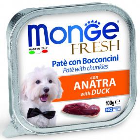 Влажный корм для собак Monge Fresh с уткой 100 г
