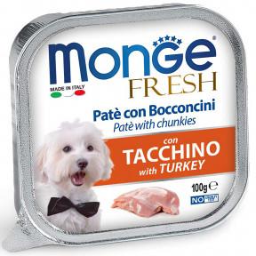 Влажный корм для собак Monge Fresh с индейкой 100 г