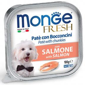 Влажный корм для собак Monge Fresh с лососем 100 г