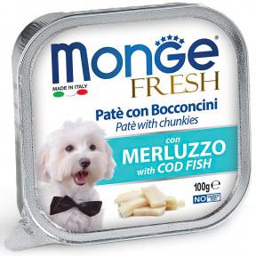 Влажный корм для собак Monge Fresh с треской 100 г