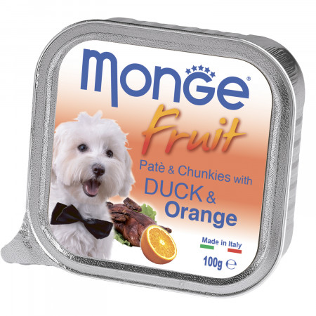 Влажный корм для собак Monge Fruit утка с апельсином 100 г