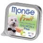 Влажный корм для собак Monge Fruit лосось с грушей 100 г