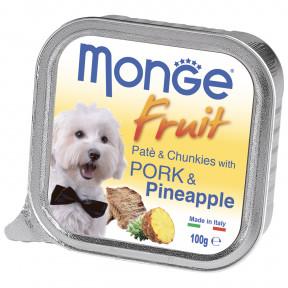 Влажный корм для собак Monge Fruit свинина с ананасом 100 г