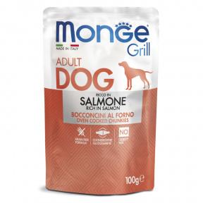 Влажный корм для собак Monge Grill беззерновой с лососем 100 г