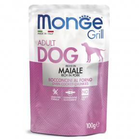Влажный корм для собак Monge Grill беззерновой со свининой 100 г