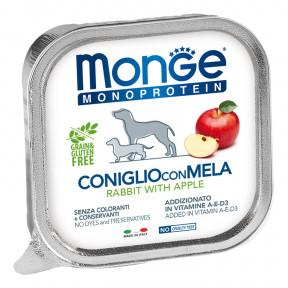 Влажный корм для собак Monge Monoprotein кролик с яблоком 150 г