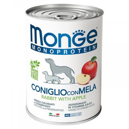 Влажный корм для собак Monge Monoprotein кролик с яблоком 400 г