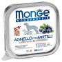 Влажный корм для собак Monge Monoprotein ягненок с черникой 150 г