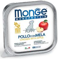 Влажный корм для щенков Monge Monoprotein курица с яблоком 150 г