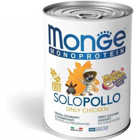 Влажный корм для собак Monge Monoprotein Белка и Стрелка, курица 400 г