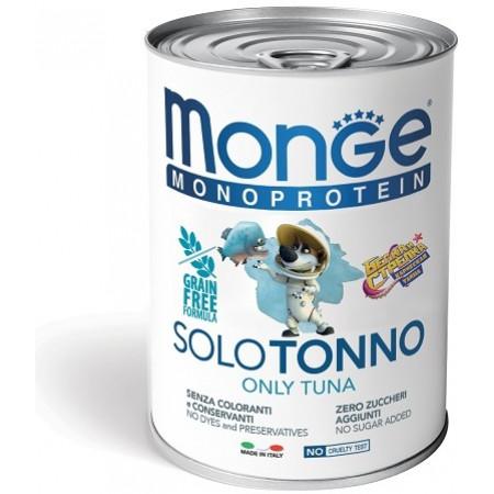 Влажный корм для собак Monge Monoprotein Белка и Стрелка, тунец 400 г