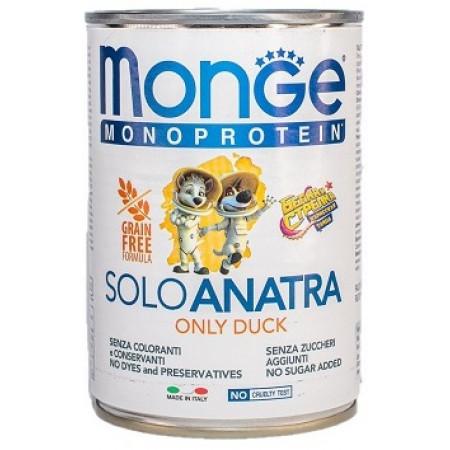 Влажный корм для собак Monge Monoprotein Белка и Стрелка, утка 400 г