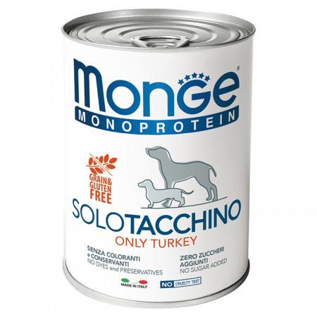 Влажный корм для собак Monge Monoprotein, индейка 400 г
