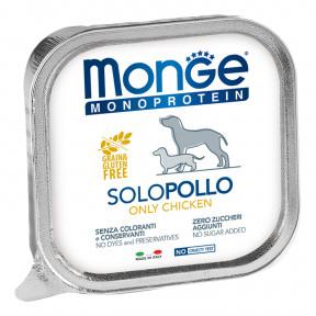 Влажный корм для собак Monge Monoprotein, курица 150 г