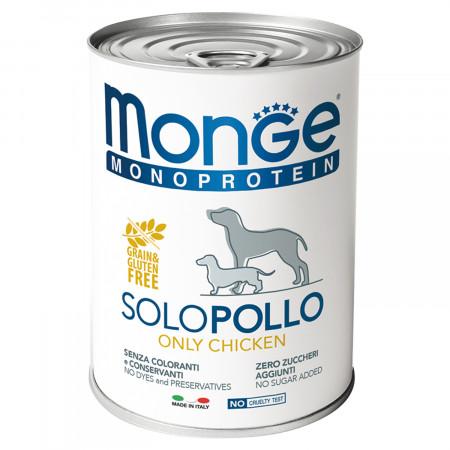 Влажный корм для собак Monge Monoprotein, курица 400 г
