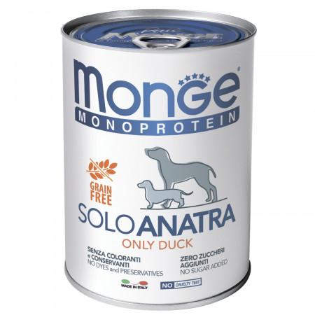 Влажный корм для собак Monge Monoprotein, свинина 400 г