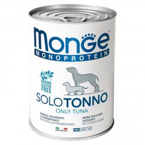 Влажный корм для собак Monge Monoprotein, тунец 400 г