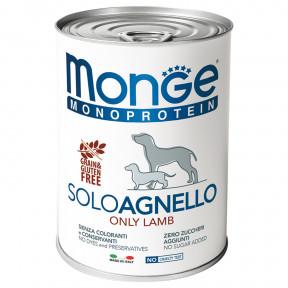 Влажный корм для собак Monge Monoprotein, ягненок 400 г