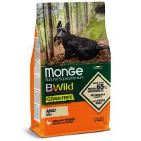 Сухой корм для собак Monge BWild беззерновой, утка с картофелем (для мелких пород) 2.5 кг