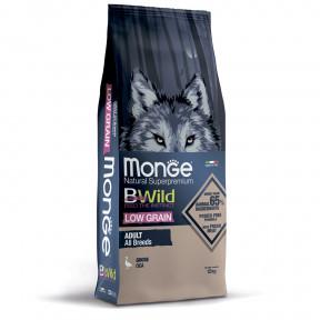 Сухой корм для собак Monge BWild низкозерновой, гусь 12 кг