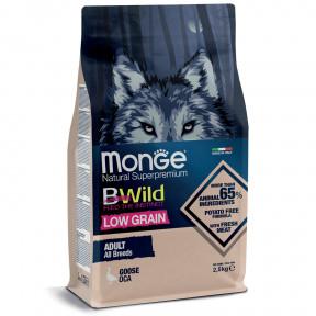 Сухой корм для собак Monge BWild низкозерновой, гусь 2.5 кг