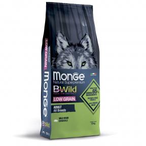 Сухой корм для собак Monge BWild низкозерновой, кабан 12 кг