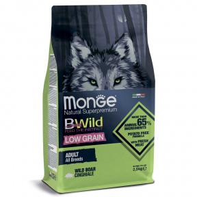 Сухой корм для собак Monge BWild низкозерновой, кабан 2.5 кг