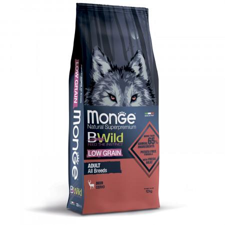 Сухой корм для собак Monge BWild низкозерновой, оленина 12 кг