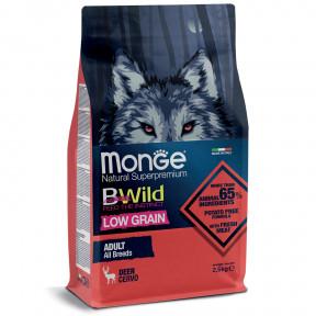 Сухой корм для собак Monge BWild низкозерновой, оленина 2.5 кг