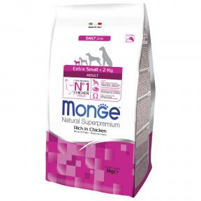 Сухой корм для собак Monge Daily Line курица (для миниатюрных пород) 3 кг