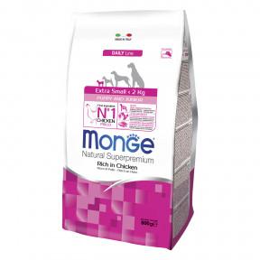Сухой корм для щенков Monge Daily Line курица (для миниатюрных пород) 800 г