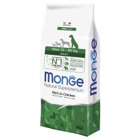 Сухой корм для собак Monge Daily Line Dog Maxi, курица (для крупных пород, для взрослых) 12 кг