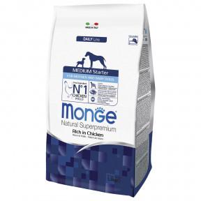 Сухой корм для щенков Monge Daily Line Medium Starter курица (для средних пород) 1.5 кг