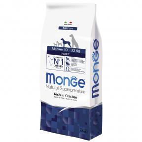 Сухой корм для собак Monge Daily Line курица (для средних пород) 12 кг