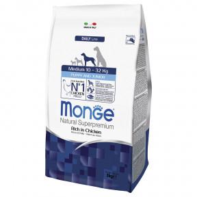 Сухой корм для щенков Monge Daily Line курица (для средних пород) 3 кг