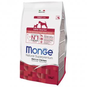 Сухой корм для щенков Monge Daily Line Mini Starter курица (для мелких пород) 1.5 кг