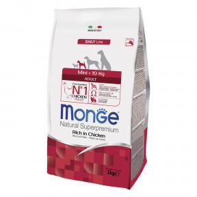 Сухой корм для собак Monge Daily Line курица (для мелких пород) 3 кг
