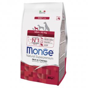 Сухой корм для собак Monge Daily Line курица (для мелких пород) 800 г
