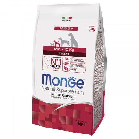 Сухой корм для пожилых собак Monge Daily Line курица (для мелких пород) 3 кг