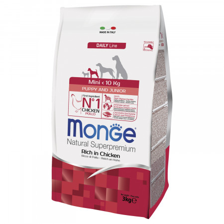 Сухой корм для щенков Monge Daily Line курица (для мелких пород) 3 кг