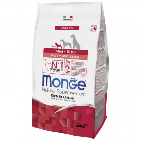 Сухой корм для щенков Monge Daily Line курица (для мелких пород) 800 г