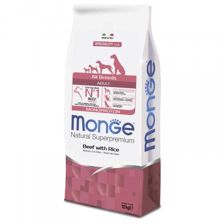 Сухой корм для собак Monge Speciality line Monoprotein говядина с рисом 12 кг