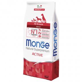 Сухой корм для собак Monge Speciality line Active корм для активных животных с курицей 12 кг
