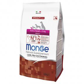 Сухой корм для собак Monge Dog Speciality Extra Small ягненок с рисом и картофелем (для миниатюрных пород) 2.5 кг