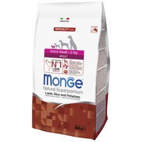 Сухой корм для собак Monge Dog Speciality Extra Small ягненок с рисом и картофелем (для миниатюрных пород) 800 г