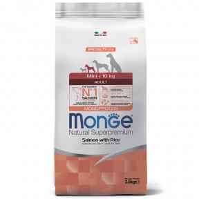 Сухой корм для собак Monge Speciality line лосось с рисом (для мелких пород) 2.5 кг