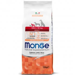 Сухой корм для собак Monge Speciality line лосось с рисом (для мелких пород) 7.5 кг