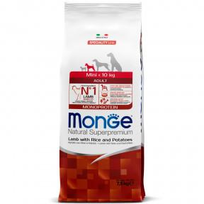 Сухой корм для собак Monge Speciality line ягненок с рисом и картофелем (для мелких пород) 7.5 кг