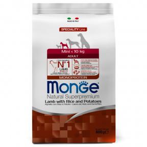 Сухой корм для собак Monge Speciality line ягненок с рисом и картофелем (для мелких пород) 800 г