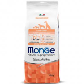 Сухой корм для щенков Monge Speciality line лосось с рисом 12 кг